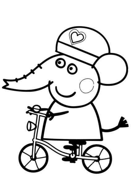 Tranh tô màu xe đạp cho bé tập tô (46)