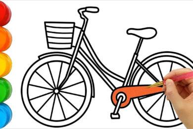 Tranh tô màu xe đạp đẹp nhất