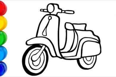 Tranh tô màu xe máy đẹp nhất