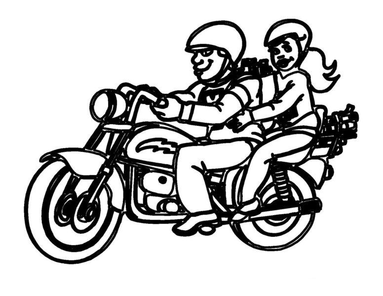 Tranh tô màu xe máy đẹp nhất cho bé tập tô (23)