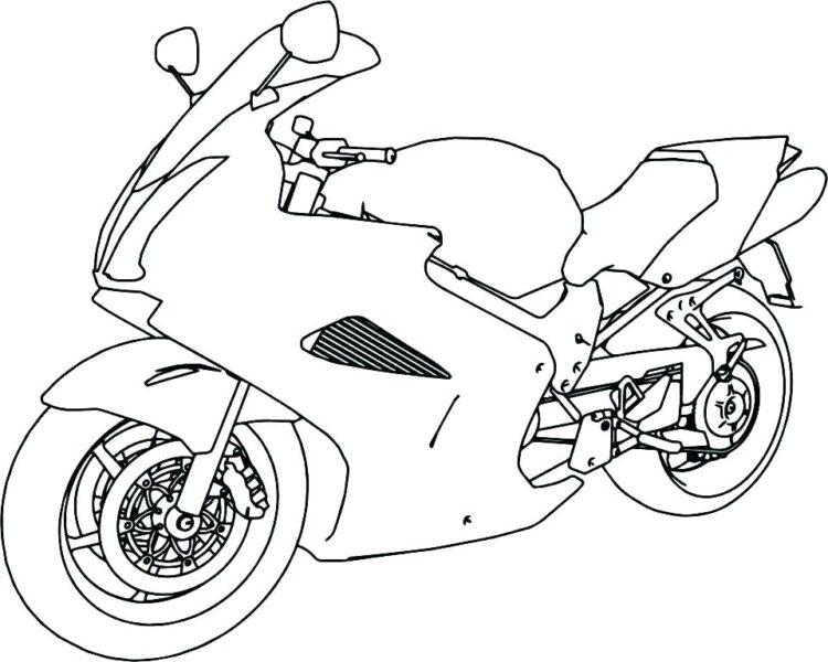 Tranh tô màu xe máy đẹp nhất cho bé tập tô (36)