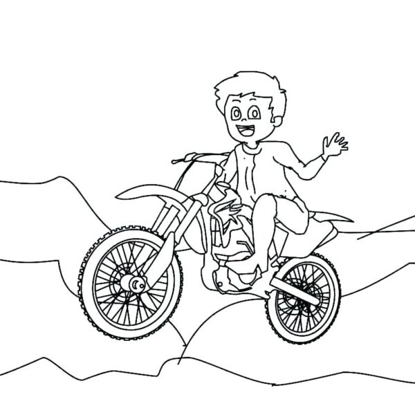 Tranh tô màu xe máy đẹp nhất cho bé tập tô (37)