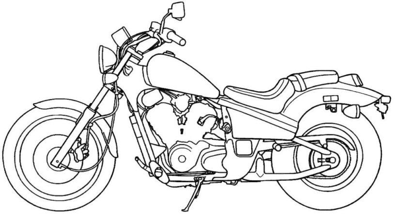 Tranh tô màu xe máy đẹp nhất cho bé tập tô (39)