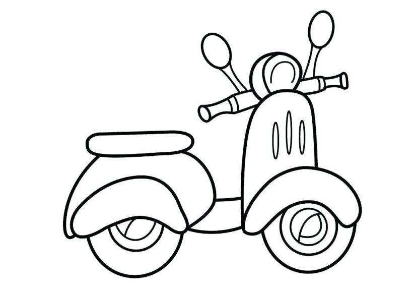 Tranh tô màu xe máy đẹp nhất cho bé tập tô (40)