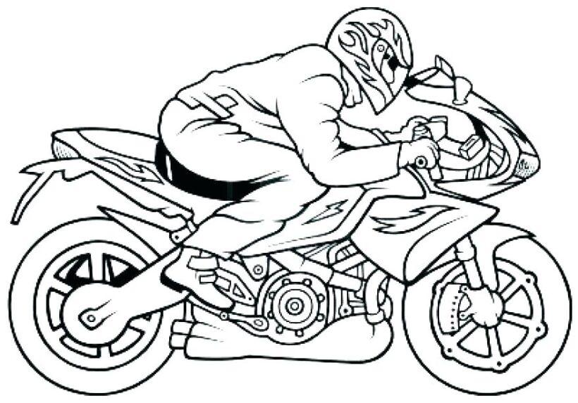 Tranh tô màu xe máy đua