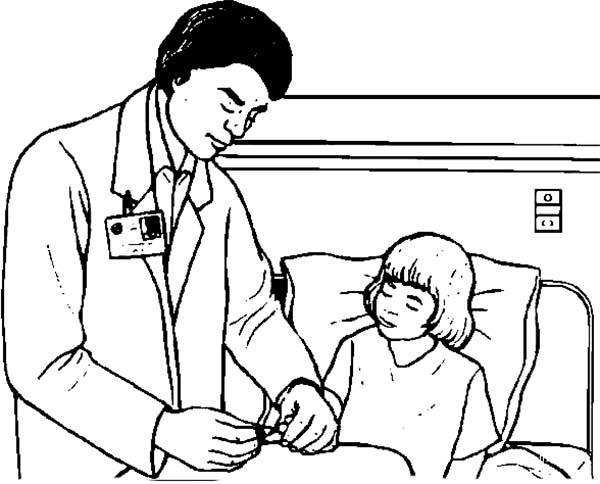 Tranh vẽ bác sĩ khám bệnh