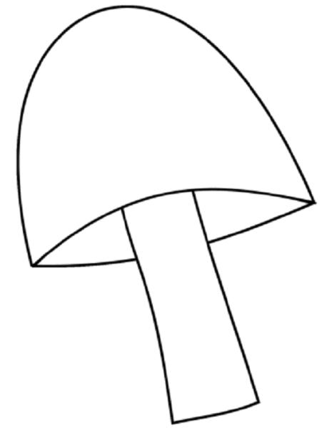 Tranh vẽ chưa tô màu cây nấm cho bé tập tô (2)