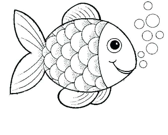 Tranh vẽ chưa tô màu chú cá vàng đẹp nhất cho bé tập tô (4)