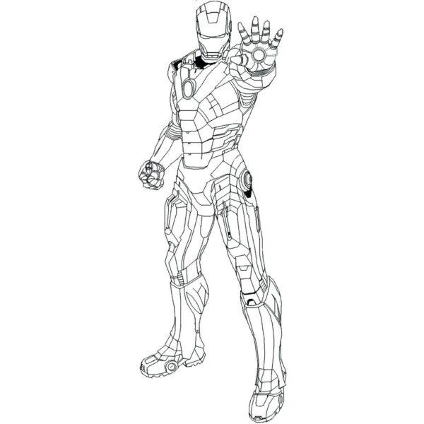 Tranh vẽ chưa tô màu Iron Man cừ nhất (1)