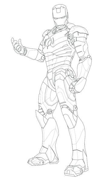 Tranh vẽ chưa tô màu Iron Man cừ nhất (4)