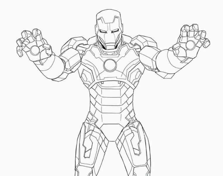 Tranh vẽ chưa tô màu Iron Man cừ nhất (5)