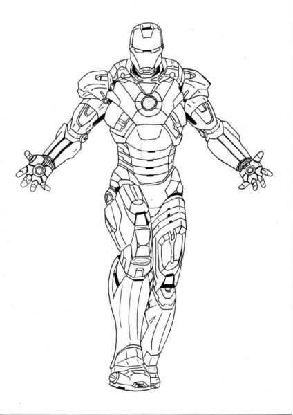 Tranh vẽ chưa tô màu Iron Man cừ nhất (6)