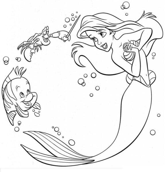 Tranh vẽ chưa tô màu phong cảnh biển đẹp cho bé tập tô (1)