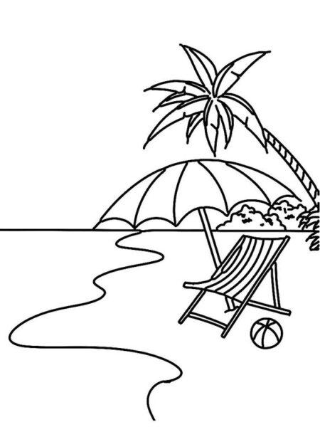 Tranh vẽ chưa tô màu phong cảnh biển đẹp cho bé tập tô (4)