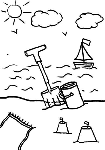 Tranh vẽ chưa tô màu phong cảnh biển đẹp cho bé tập tô (7)