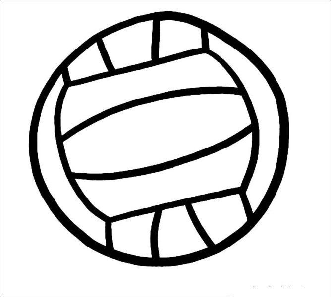 Tranh vẽ chưa tô màu quả bóng cho bé tập tô (2)