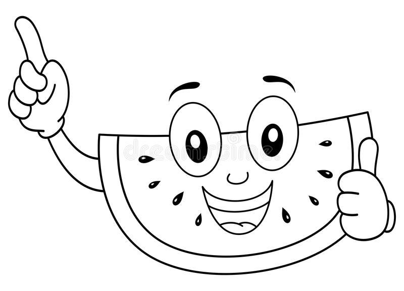 Tranh vẽ chưa tô màu quả dưa hấu cho bé tập tô (6)