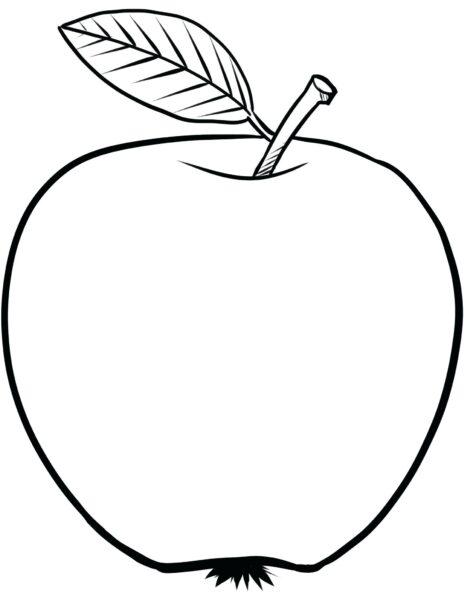 Tranh vẽ chưa tô màu quả táo cho bé tập tô (1)