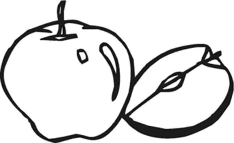 Tranh vẽ chưa tô màu quả táo cho bé tập tô (5)