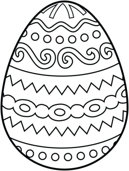 Tranh vẽ chưa tô màu quả trứng đơn giản cho bé tập tô (27)