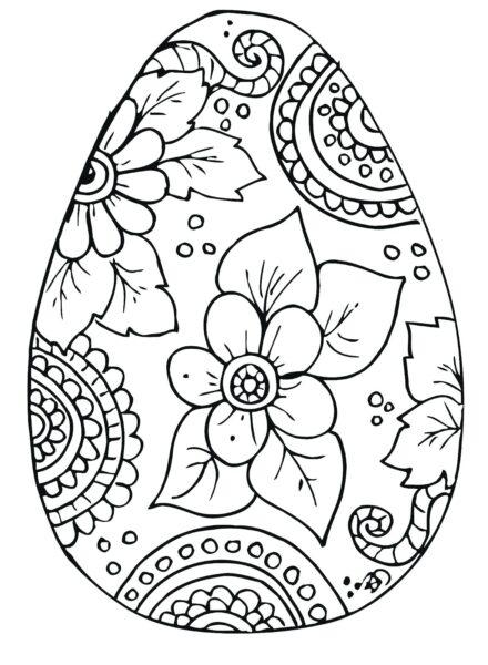 Tranh vẽ chưa tô màu quả trứng đơn giản cho bé tập tô (28)