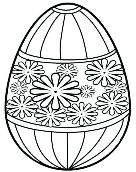 Tổng hợp các bức tranh tô màu quả trứng đẹp nh