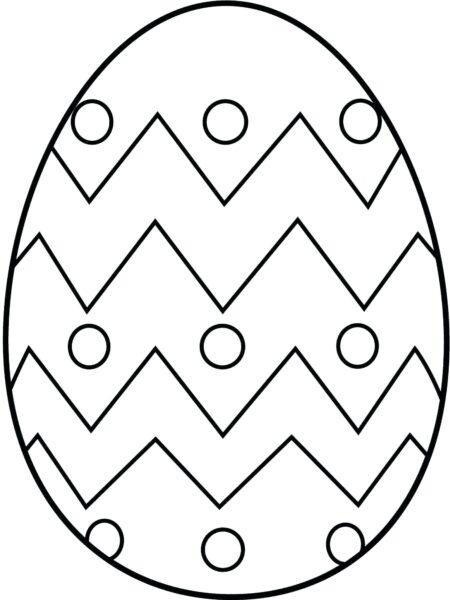 Tranh vẽ chưa tô màu quả trứng đơn giản cho bé tập tô (31)