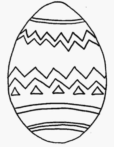 Tranh vẽ chưa tô màu quả trứng đơn giản cho bé tập tô (33)
