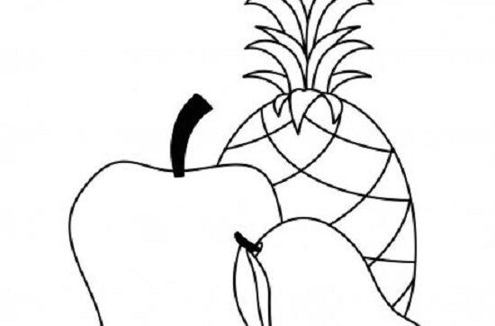 Tranh vẽ chưa tô màu quả xoài đơn giản cho bé tập tô (9)