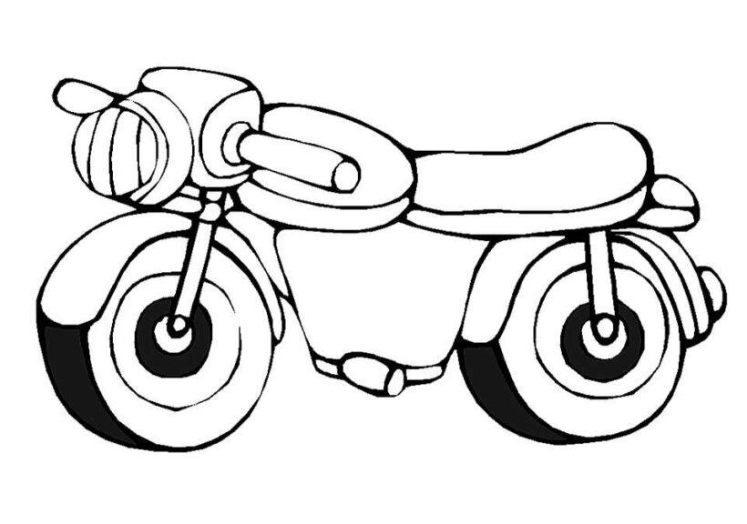 Tranh vẽ chưa tô màu xe máy đẹp nhất cho bé tập tô (2)