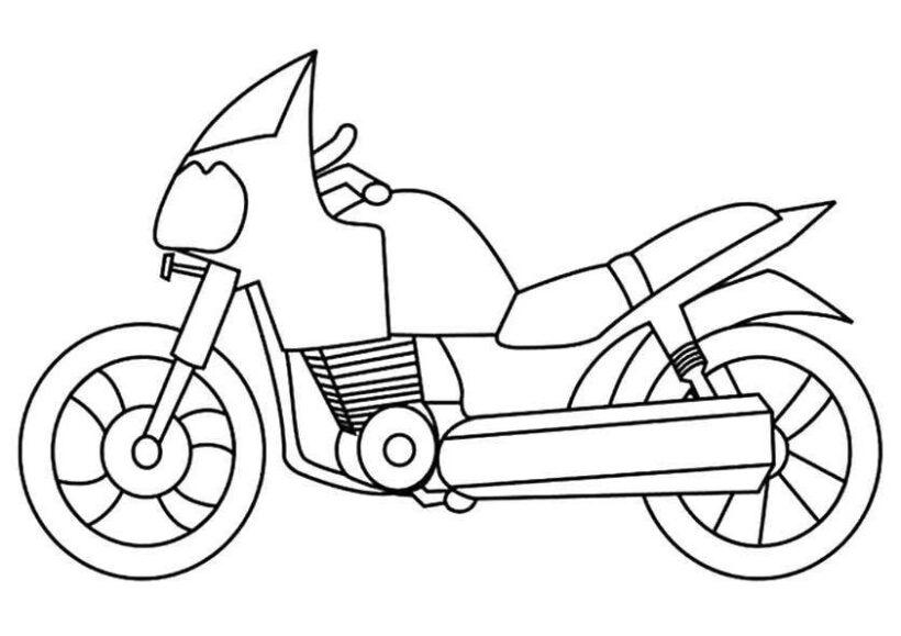 Tranh vẽ chưa tô màu xe máy đẹp nhất cho bé tập tô (3)
