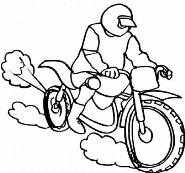 Tranh vẽ chưa tô màu xe máy đẹp nhất cho bé tập tô (5)