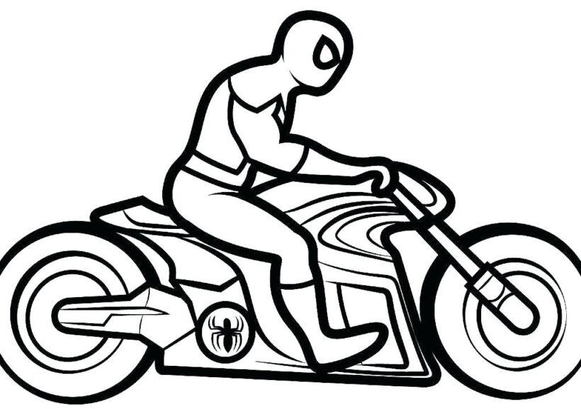 Tranh vẽ chưa tô màu xe máy đẹp nhất cho bé tập tô (6)