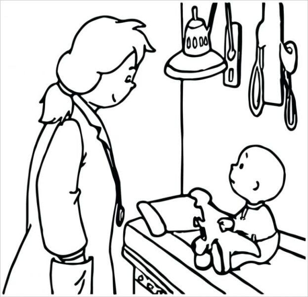 Tranh vẽ đen trắng bác sĩ đẹp nhất cho bé tô màu (1)