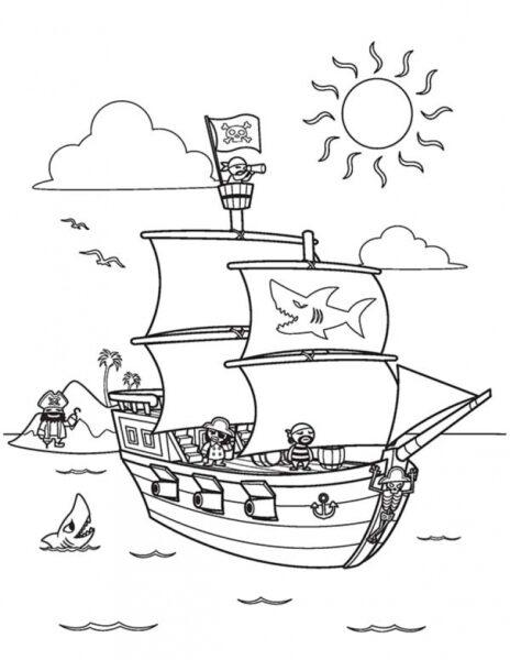 Tranh vẽ đen trắng cho bé 9 tuổi tập tô (3)