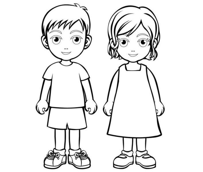 Tranh vẽ đen trắng cho bé trai tô màu (1)