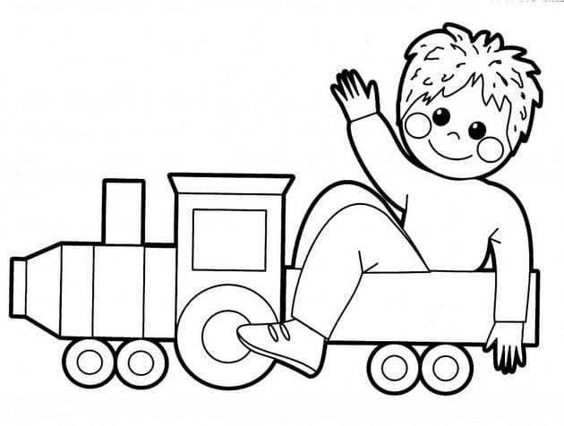Tranh vẽ đen trắng cho bé trai tô màu (5)