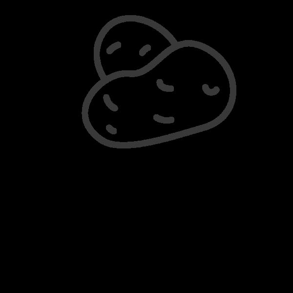 Tranh vẽ đen trắng củ khoai lang cho bé tập tô (2)
