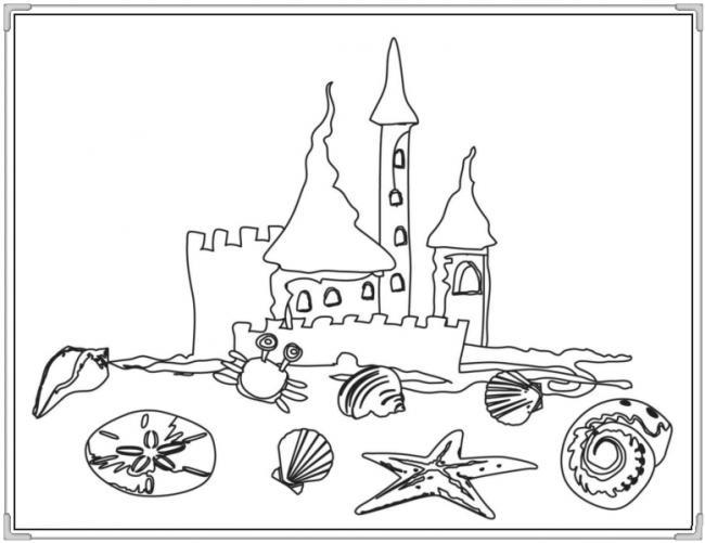 Tranh vẽ đen trắng lâu đài cho bé tô màu (6)