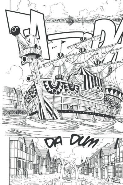 Tranh vẽ đen trắng One Piece cho bé tô màu (2)