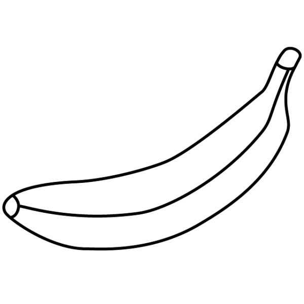 Tranh vẽ đen trắng quả chuối đẹp nhất cho bé tập tô (1)