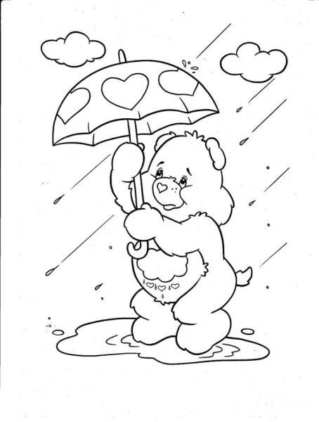 Tổng hợp các bức tranh tô màu trời mưa đẹp nhất