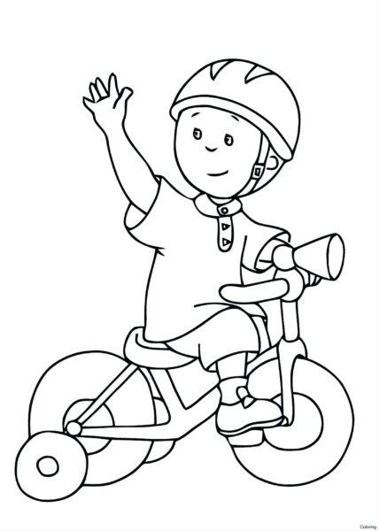 Tranh vẽ đen trắng xe đạp đẹp cho bé tập tô (1)