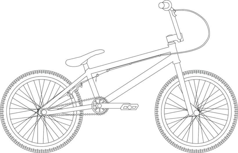 Tranh vẽ đen trắng xe đạp đẹp cho bé tập tô (2)