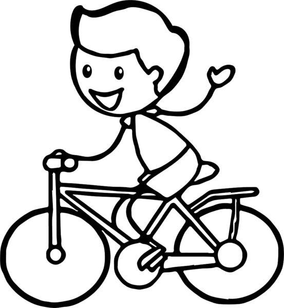 Tranh vẽ đen trắng xe đạp đẹp cho bé tập tô (4)