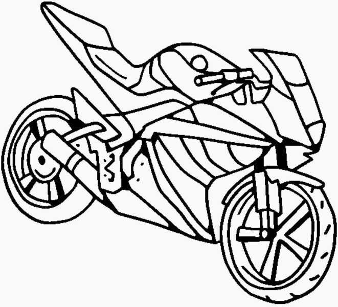 Tranh vẽ đen trắng xe máy cho bé tô màu (1)