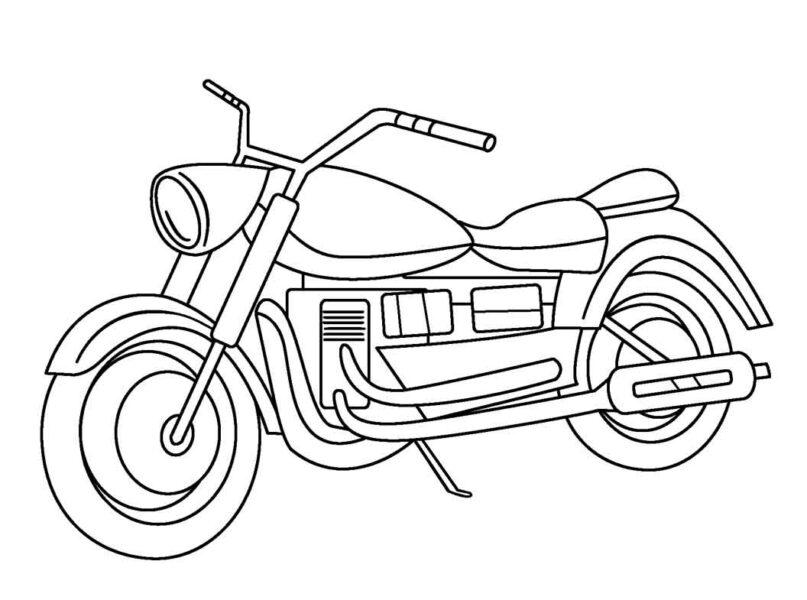 Tranh vẽ đen trắng xe máy cho bé tô màu (4)