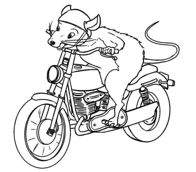 Tranh vẽ đen trắng xe máy cho bé tô màu (7)