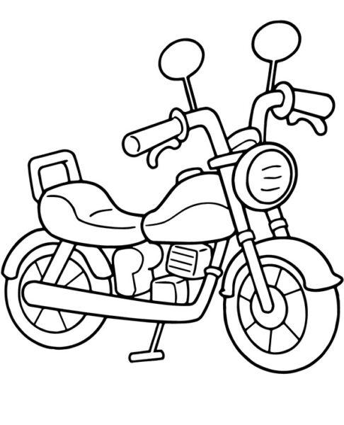 Tranh vẽ đen trắng xe máy cho bé tô màu (9)