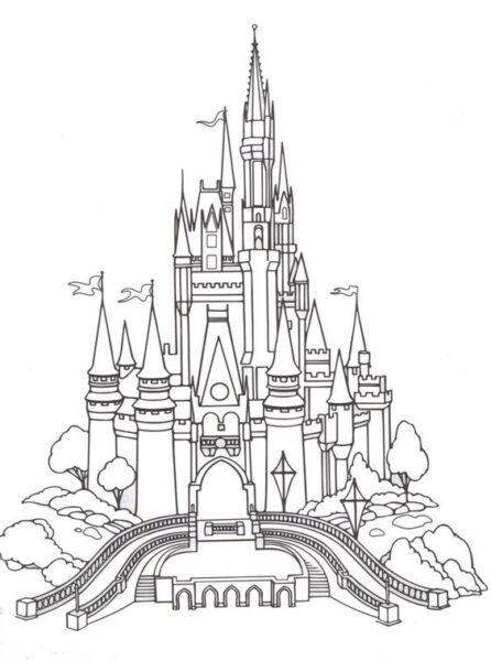 Tranh vẽ lâu đài cổ tích
